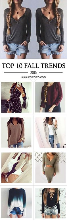 Start from $12.99! Women's Fall Top 10 Fashion Basic Slouchy Boho Casual Long Sleeve Shirt Dress Skirt Tunic Sweater Vneck Blouse Romper Bodycon Jumpsuit Plunge Cami Cape. Search more at www.chicnico.com.