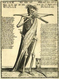 Fleuch wa du willt, Des todtes bild (c. 1650 / Engraving) - Gerhard Altzenbach