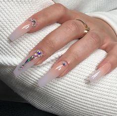 studio nails where to buy nail art designs best and easy nail art designs beautiful nail art ideas n - HandAndNail Bling Acrylic Nails, Simple Acrylic Nails, Best Acrylic Nails, Rhinestone Nails, Bling Nails, Aycrlic Nails, Acrylic Nail Designs, Simple Nails, Swag Nails