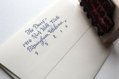 Hey, I found this really awesome Etsy listing at https://www.etsy.com/listing/156857743/calligraphy-return-address-stamp