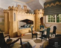 seriously...how much fun would this be for kids to have this as a room and imagine they are living in a castle.  In fact...I would love this!!  Need to design a grown-up version of this lol
