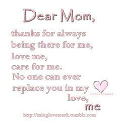 My mom!!!