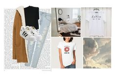 """""""its near"""" by lelaena ❤ liked on Polyvore featuring AG Adriano Goldschmied, adidas Originals, Zara, women's clothing, women, female, woman, misses, juniors and tumblr"""
