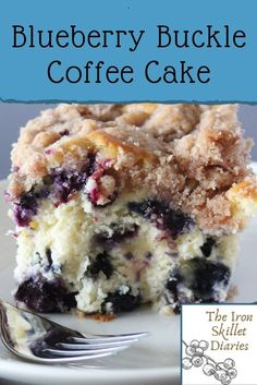 Mini Desserts, Easy Desserts, Summer Desserts, Dessert Simple, Easy Cake Recipes, Sweet Recipes, Blueberry Buckle Recipe, Healthy Blueberry Recipes, Easy Blueberry Desserts
