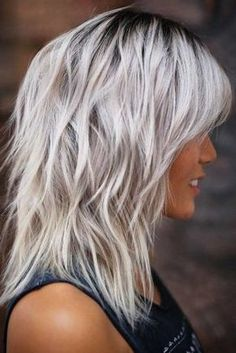Medium Length Hair Cuts With Layers, Layered Hair With Bangs, Medium Hair Cuts, Medium Hair Styles, Short Hair Styles, Shoulder Length Hair Cuts With Layers, Medium Fine Hair, Layered Haircuts Shoulder Length, Plait Styles