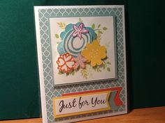 Cute CTMH card using November's SOTM and 'Whimsy' colours.