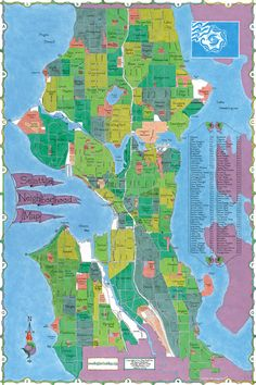 map of seattle | Seattle Neighborhood Map See map details From www.bigstickinc.com