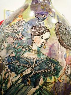 Grayson Perry - ceramic study ll Pottery Painting, Pottery Art, Painted Pottery, Pottery Ideas, Grayson Perry Art, Angel Sculpture, China Art, Modern Art, Contemporary Artists