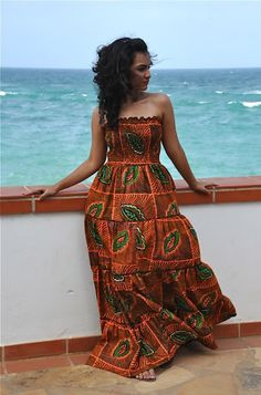 African Print Maxi Dress - The African Clothing African Maxi Dresses, Ankara Dress, African Attire, African Wear, African Women, Shweshwe Dresses, African Tops, African Style, Beach Dresses