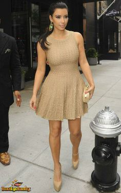 Kim Kardashian Style. I like this dress and wears it nicely with the earrings.
