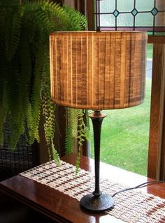 book page lamp shade - this is Shakespeare pages, made by Light and Paper