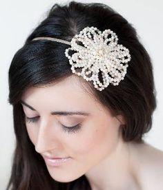 Tiararama Autumn Rose Asymmetric Bridal Headband from Notonthehighstreet.com at SHOP.COM UK