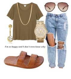 """School "" by cgotkicks ❤ liked on Polyvore featuring Monki, Linda Farrow, Michael Kors, ASOS and Topshop"