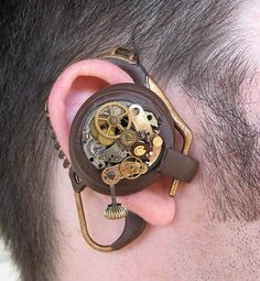 Steampunk Bluetooth ear piece.. now THAT is cool!