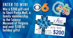 Win Science Museum of Virginia gift pack, $200 gift card to Short Pump Town Center!