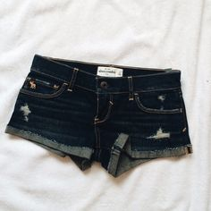 Abercrombie shorts BRAND NEW brand new never been used kids Abercrombie shorts. Distressed shorts. Dark blue. Abercrombie & Fitch Jeans