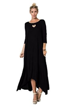fd17d237f89 Asymmetrical Flowy Long Sleeve Sleeveless Drape Slouch Boho Women Piko Dress  at Amazon Women s Clothing store