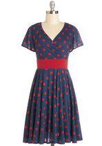 Feeling Footloose Dress in Navy   Mod Retro Vintage Dresses   ModCloth.com