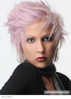 Edgy Medium Purple Hair Style when I am old Edgy Haircuts, Cool Short Hairstyles, Short Hair Styles Easy, Straight Layered Hair, Short Hair With Layers, Short Hair Cuts For Women, Pastel Hair, Purple Hair, Faded Hair