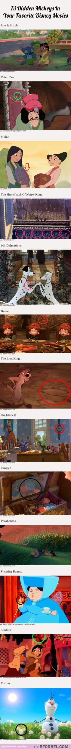 13 Hidden Mickeys In Your Favorite Disney Movies…: