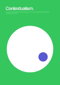 Contextualism - Complex Philosophical Theories Minimalist Posters - A range of views that argue that a phenomenon can only be properly understood within the context it occurred.