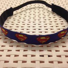 No slip headband Superman Superwoman Supergirl Superhero Super Hero