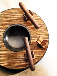 A Unique Wooden Ashtray | Cigar Toy