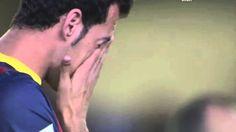 ♥Sergio Busquets llora por Tito Vilanova antes del partido | Villareal vs...♥ ♥Asuncion Peña♥
