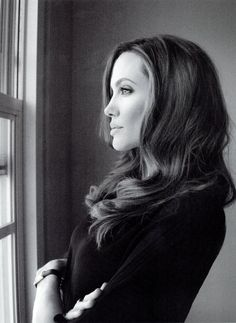 """People will always say you're going hte wrong way when it's simply a way of your own."" - Angelina Jolie (photographed by Melodie McDaniel in 2012)"