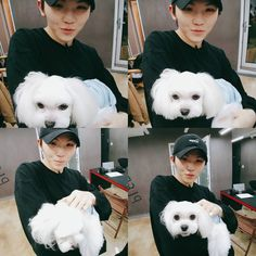 Woozi and a puppy