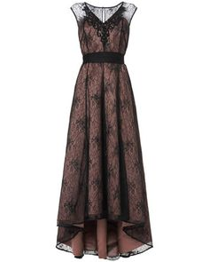 Buy Phase Eight Collection 8 Avalia Lace Dress, Black/Pink from our Women's Dresses range at John Lewis & Partners. High Low Cocktail Dress, V Neck Cocktail Dress, Formal Cocktail Dress, Dress Formal, Formal Gowns, Long Sleeve Midi Dress, Lace Midi Dress, Lace Dress Black, Pink Lace