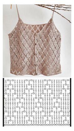 Shawl Crochet, Débardeurs Au Crochet, Mode Crochet, Crochet Woman, Crochet Blouse, Easy Crochet, Crochet Summer Tops, Crochet Crop Top, Crochet Bikini