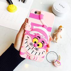 Cute 3D Cartoon Disney Cheshire cat Rubber Soft case cover for iphone 6 6S plus #UnbrandedGeneric