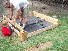 Home-made sandbox