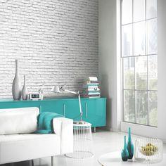Arthouse White Brick Wallpaper - 623004 - http://godecorating.co.uk/arthouse-white-brick-wallpaper-623004/