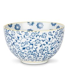 Ceramic Floral Bowl #zulily #zulilyfinds