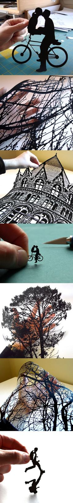 hand-cut paper art by Joe Bagley #Arts Design