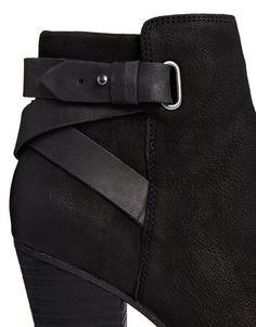 ALDO   ALDO Salazie Leather Heeled Ankle Boots at ASOS