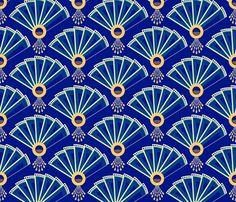 deco fans fabric by coggon_(roz_robinson) on Spoonflower - custom fabric