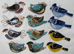 fused glass birds                                                                                                                                                     More