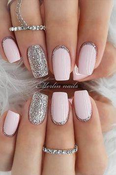 35 Pretty nail art designs for any occasion - - 35 Pretty nail art designs for any occasion Nails wedding nail designs for brides, nails with glitter, nails for wedding guest , glitter nail designs , nail trends 2020 Best Acrylic Nails, Acrylic Nail Designs, Neutral Nail Designs, White Nail Designs, Neutral Nails, Wedding Nails Design, Nails For Wedding, Wedding Makeup, Purple Wedding Nails