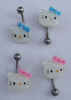 Hello Kitty Resin Navel Belly Ring -Choose type & color in Jewelry & Watches Kawaii Jewelry, Cute Jewelry, Body Jewelry, Jewellery, Cute Piercings, Belly Piercings, Belly Ring Piercing, Tongue Piercings, Rook Piercing
