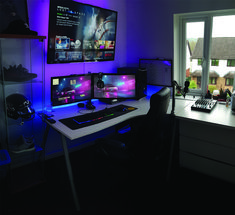 Good best gaming computer desk 2018 to refresh your home The right gaming computer desk improves a consumer's personal computer games expertise. Personal computer pc gaming aficionados have numerous necessities that can't be actually dealt wi… Custom Computer Desk, Best Gaming Setup, Gaming Computer Desk, Gaming Room Setup, Pc Setup, Desk Setup, Gaming Pcs, Gaming Rooms, Computer Technology