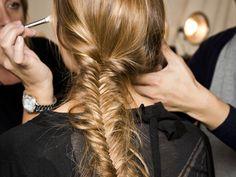 trending: fishtail textured plaits