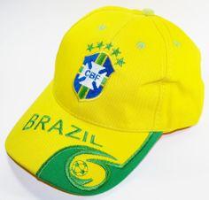 185fd7fe2f5 BRAZIL SOCCER CAP YELLOW SPORT FOOTBALL FÚTBOL FUTEBOL BRASIL boné   soccercaps  soccerhats  fifaworldcup  football  soccer  worldcup2014   brasil  brazil   ...