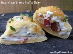 Bacon Cream Cheese Stuffed Pastry