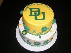 Another great #Baylor graduation cake! #sicem