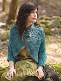 Violette‑le‑duc    from Norah Gaughan, vol. 3  knit in Berroco Inca® Gold and Lumina™