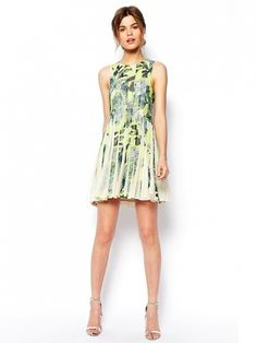 This floral stunner is a no-brainer for summer. // Salon Mini Floral Stripe Dress by ASOS