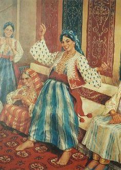 لوحات للفنان الليبي عوض عبيدة
